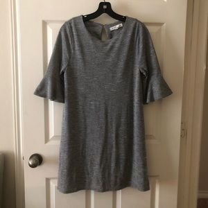 BCBGeneration gray dress w/ fluted sleeves